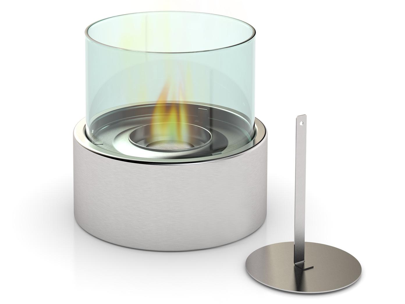 Das Bild Wird Geladen Modernes Tischfeuer Bioethanol Ohne Russbildung Luxus  Kamin Tisch