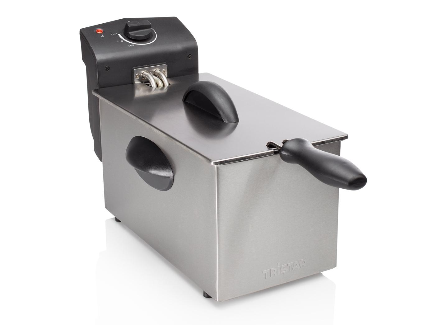 Edelstahlfritteuse-3-Liter-Emaille-Behaelter-Betriebskontrollleuchte-190-C Indexbild 2
