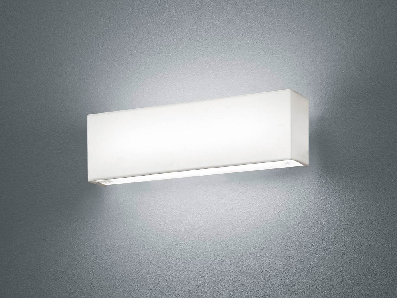 Trio led applique set lugano bianco con interruttore uplight