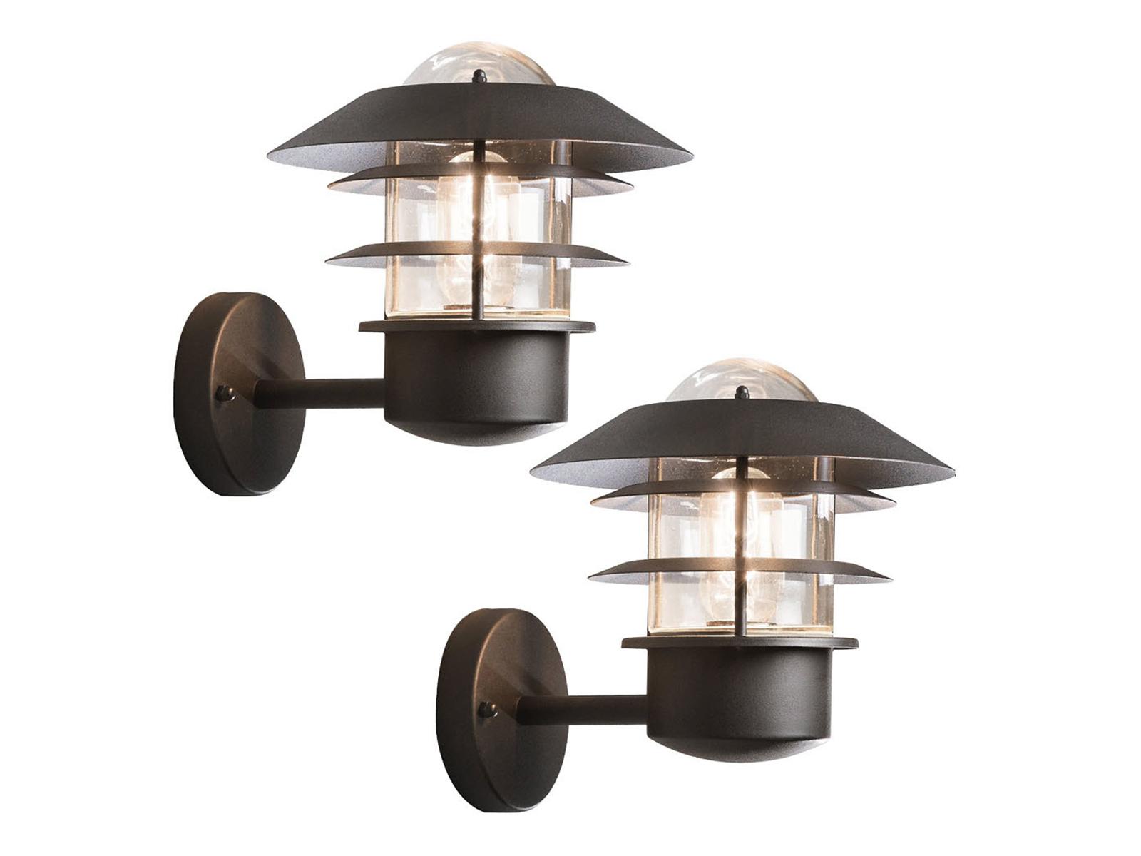 2er-Set Wandleuchten MODENA Aluminium schwarz, E27, Höhe 24 cm, cm, cm, IP44 | Schön und charmant  | Zu verkaufen  | Die erste Reihe von umfassenden Spezifikationen für Kunden  c1f296